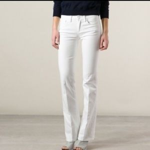 Tory Burch Classic ToryBoot Jean's Sz27 White